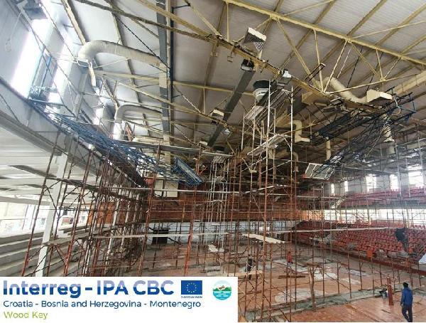 Projekt WOOD KEY - počeli radovi na uvođenju grijanja na drvnu biomasu u sportskoj dvorani Luke