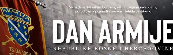 Čestitka gradonačelnika i predsjedavajućeg GV Bihać povodom 29. godišnjice osnivanja Armije Republike BiH