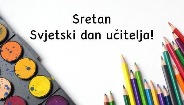 Čestitka povodom Međunarodnog dana učitelja
